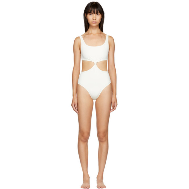 Solid and Striped Solid & Striped Off-White 'The Bailey' One-Piece Swimsuit