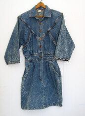 dress,80s style,denim,acid wash