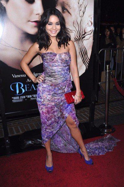 vanessa hudgens strapless dress