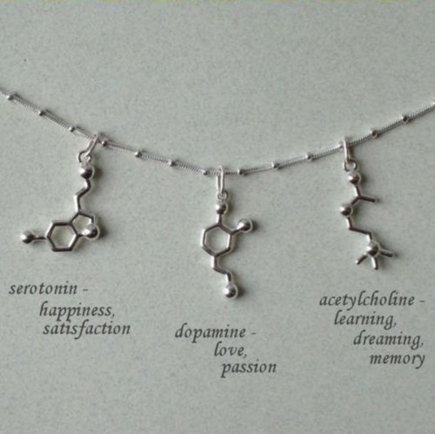 Jewels Molecules Silver Neurotransmitter Serotonin