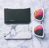 sunglasses,mirrored sunglasses,white sunglasses,glasses,sunnies,accessories,Accessory,summer,summer accessories,trendy,cat eye,phone cover