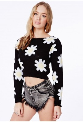 Missguided Stocrotca Daisy Crop Jumper - Polyvore