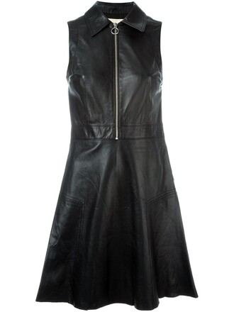 dress zip women black