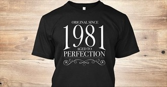 shirt 1981 perfection girls original aged t-shirt