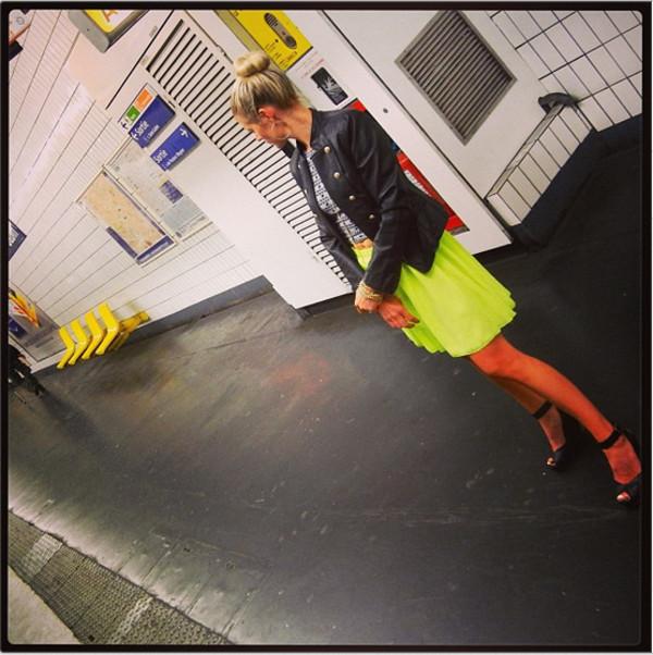 skirt neon green pleated pleated skirt neon skirt green skirt yellow