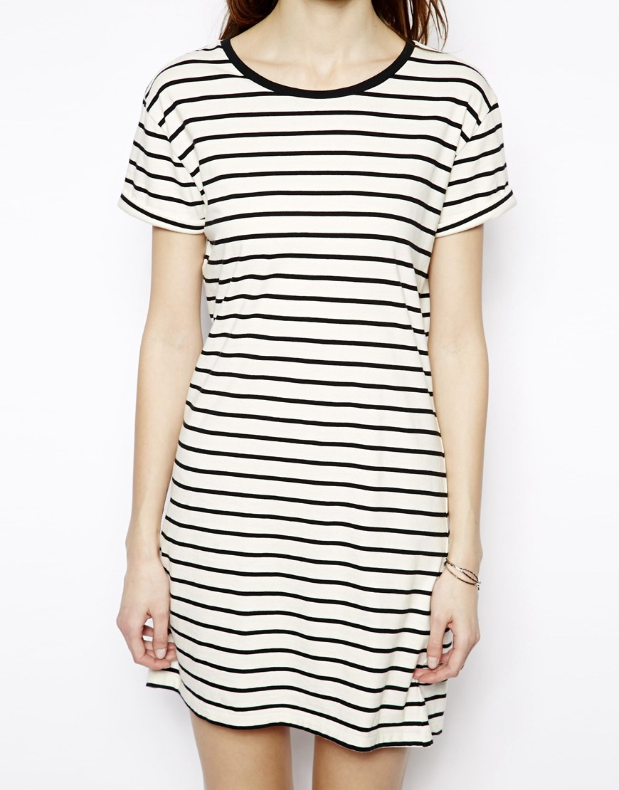 Denham Striped T-Shirt Dress at asos.com