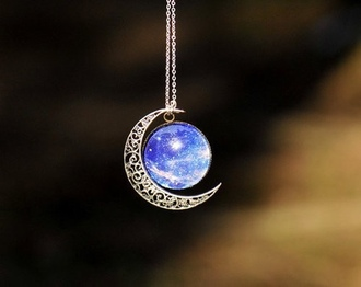jewels galaxy moon crest silver blue