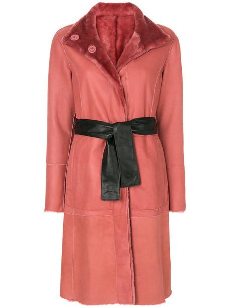 DROME coat fur coat fur women purple pink