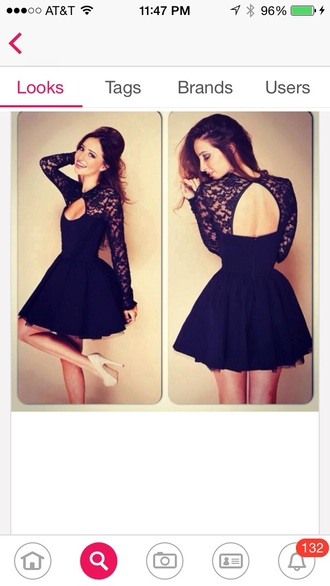 dress lace black lace dress black dress