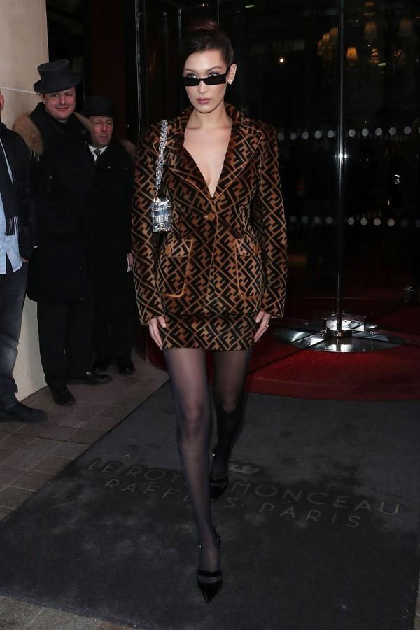 81500fa24192 shoes mini skirt blazer streetstyle model off-duty bella hadid paris  fashion week 2018 fashion