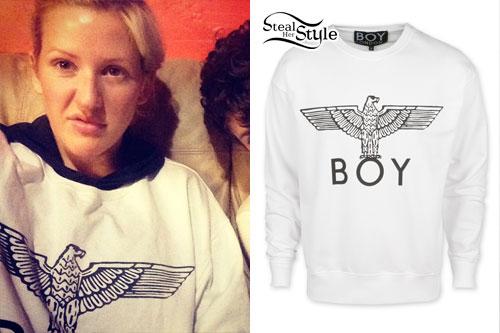 Ellie Goulding: BOY Eagle Sweatshirt | Steal Her Style