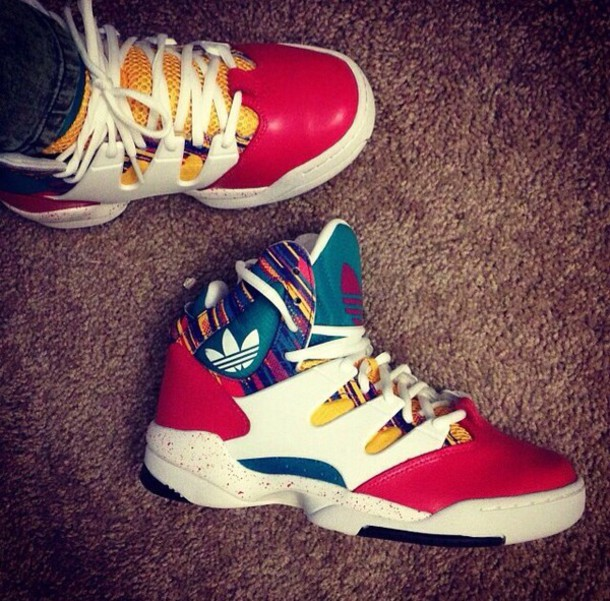 shoes adidas colorful old school hightop yellow