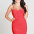 Red Sexy Dress - Sexy Red Dress with Ruched | UsTrendy