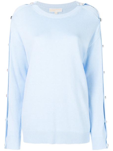 MICHAEL Michael Kors jumper women embellished cotton blue sweater