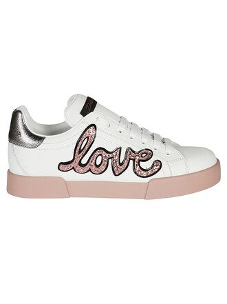 love embellished sneakers white shoes