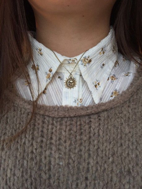 Jewels Camren Moon Sun Aesthetic Tumblr Necklace Jewelry Blouse Wheretoget