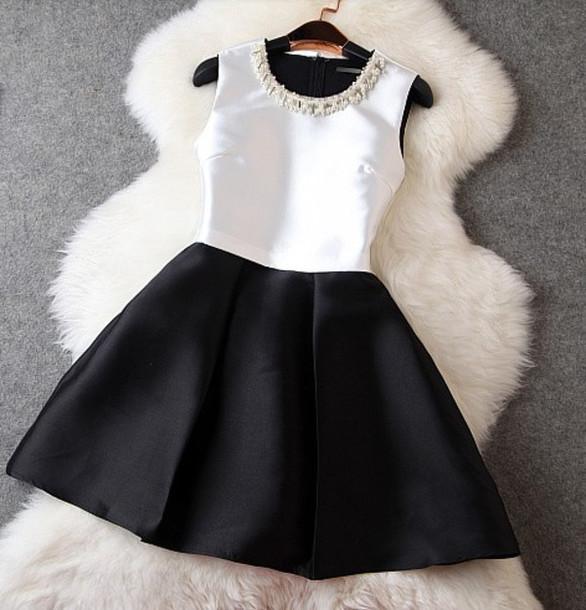 Black And White Dress Dress Chic Graduation Dress