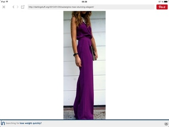 dress purple aubergine long maxi dress