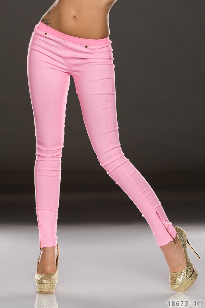 Stoffhose stretch leggings rosa