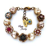 jewels,siggy jewelry,swarovski,crystal,gemstone,bracelets,etsy,etsyshop,giftsforher,holiday gift,party,wedding,fashion,beautiful,sparkle,fancy,precious,victorian,flower bracelet,statement jewelry,stacking bracelet,arm candy,pink,blue,victorian style,hand made,brass,red