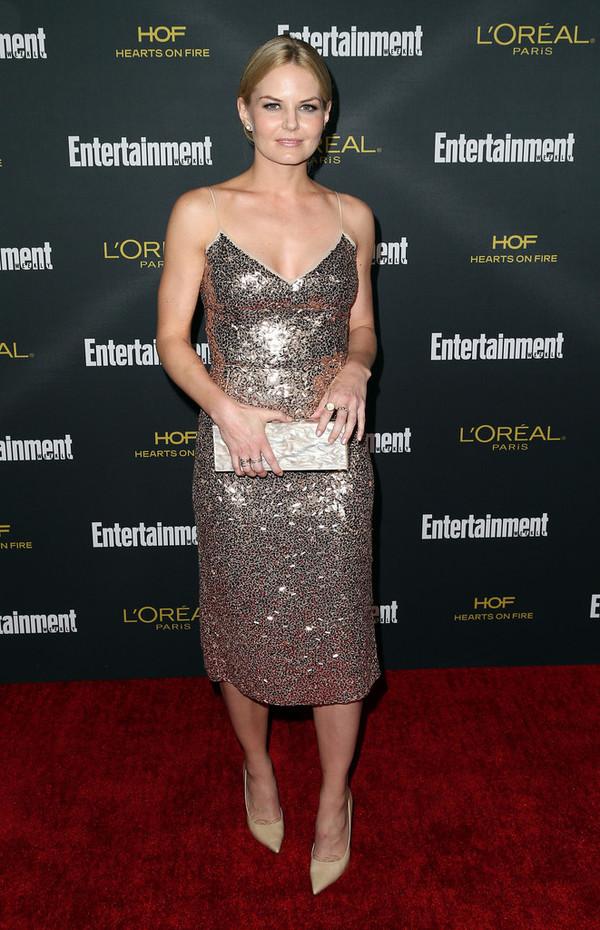 dress sparkly dress jennifer morrison shoes