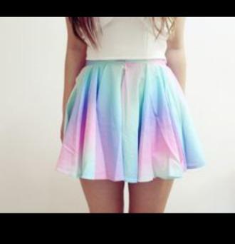 skirt rainbow circle skirt