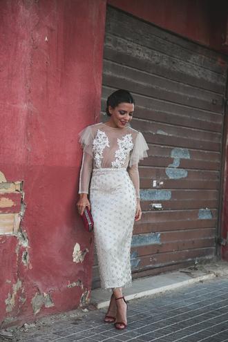 dress tumblr midi dress white dress lace dress white lace dress bodycon dress see through see through dress