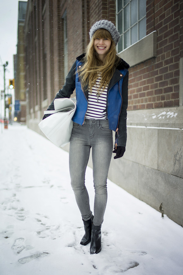 just another me jacket bag jeans sweater hat shoes jewels