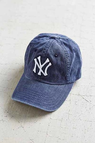 hat yankees denim cap cap