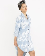 dress,shirtdress,denim,denim shirtdress,acid wash,acid wash dress