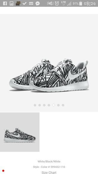 shoes noir et blanc nike roshe run