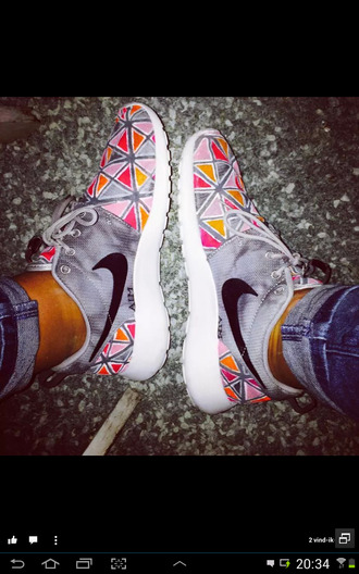 shoes grise orange roshe runs sneakers colorful mens shoes
