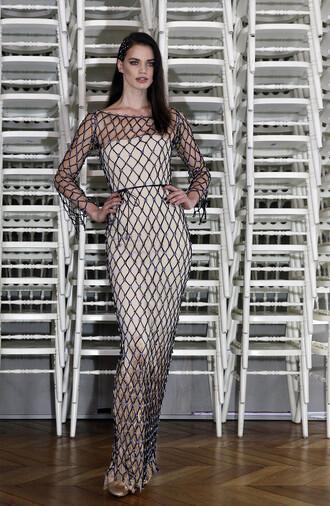 dress mesh dress bodycon dress gown prom dress fashion week 2016 runway model haute couture gorgeous