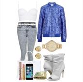 jacket,snake print,blue,bomber jacket,shoes,bag,jewels