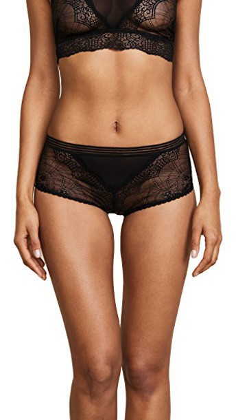hipster lace black underwear