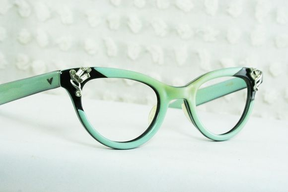 sunglasses cat eye glasses mint