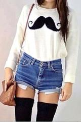 Sirenlondon — moustache jumper