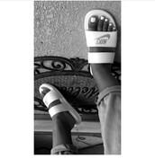 shoes,nike,nike shoes,slide shoes,nike slides,sandals,white shoes,white,nike rich swoosh,swoosh logo,nike swoosh sweatpants,black free white swoosh,hoographic swoosh,nike shoes for women,women shoes,women,slide sandals,slide