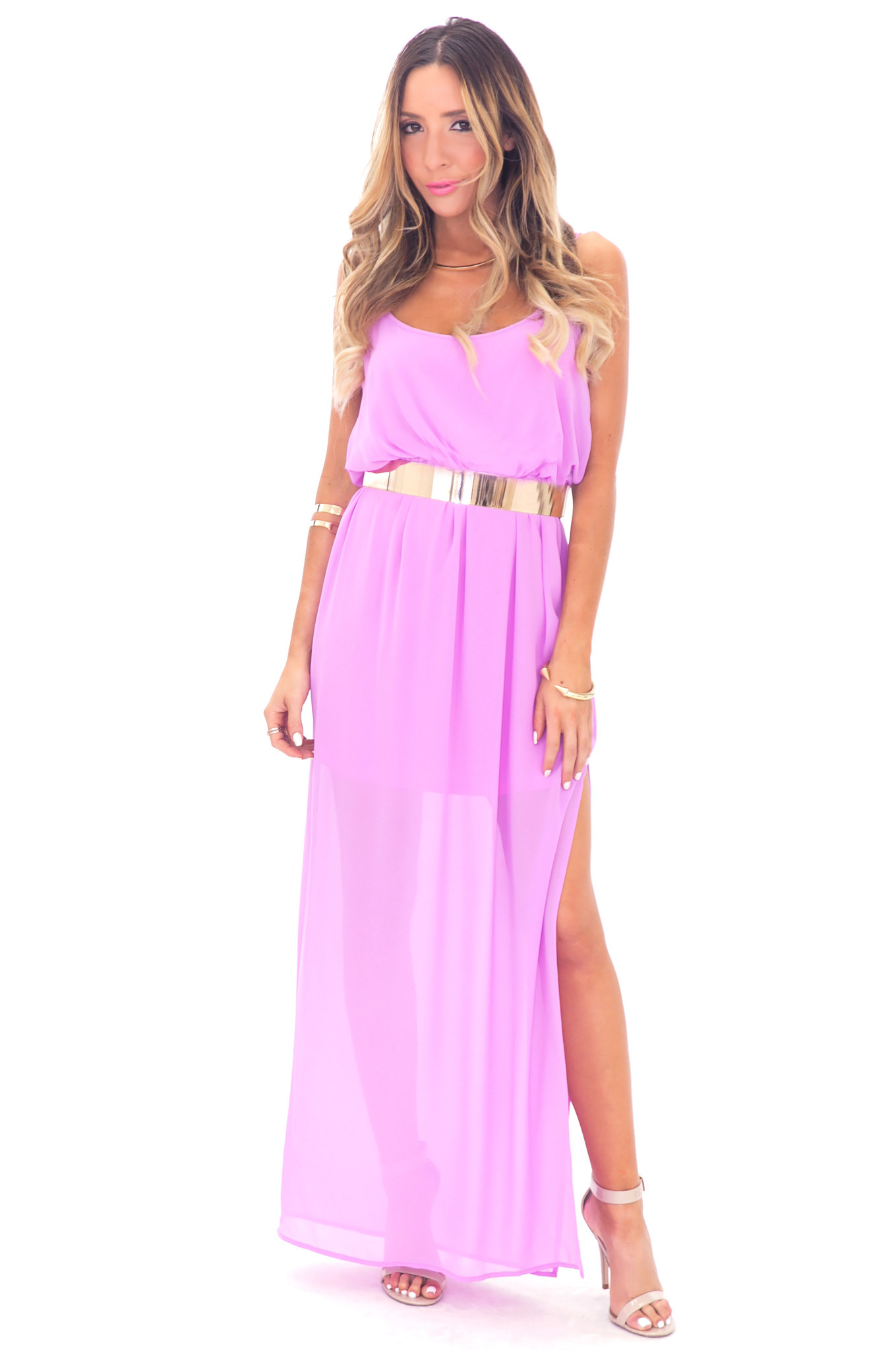 ALLISON CROSS BACK CHIFFON MAXI - PURPLE BLUSH | Haute & Rebellious