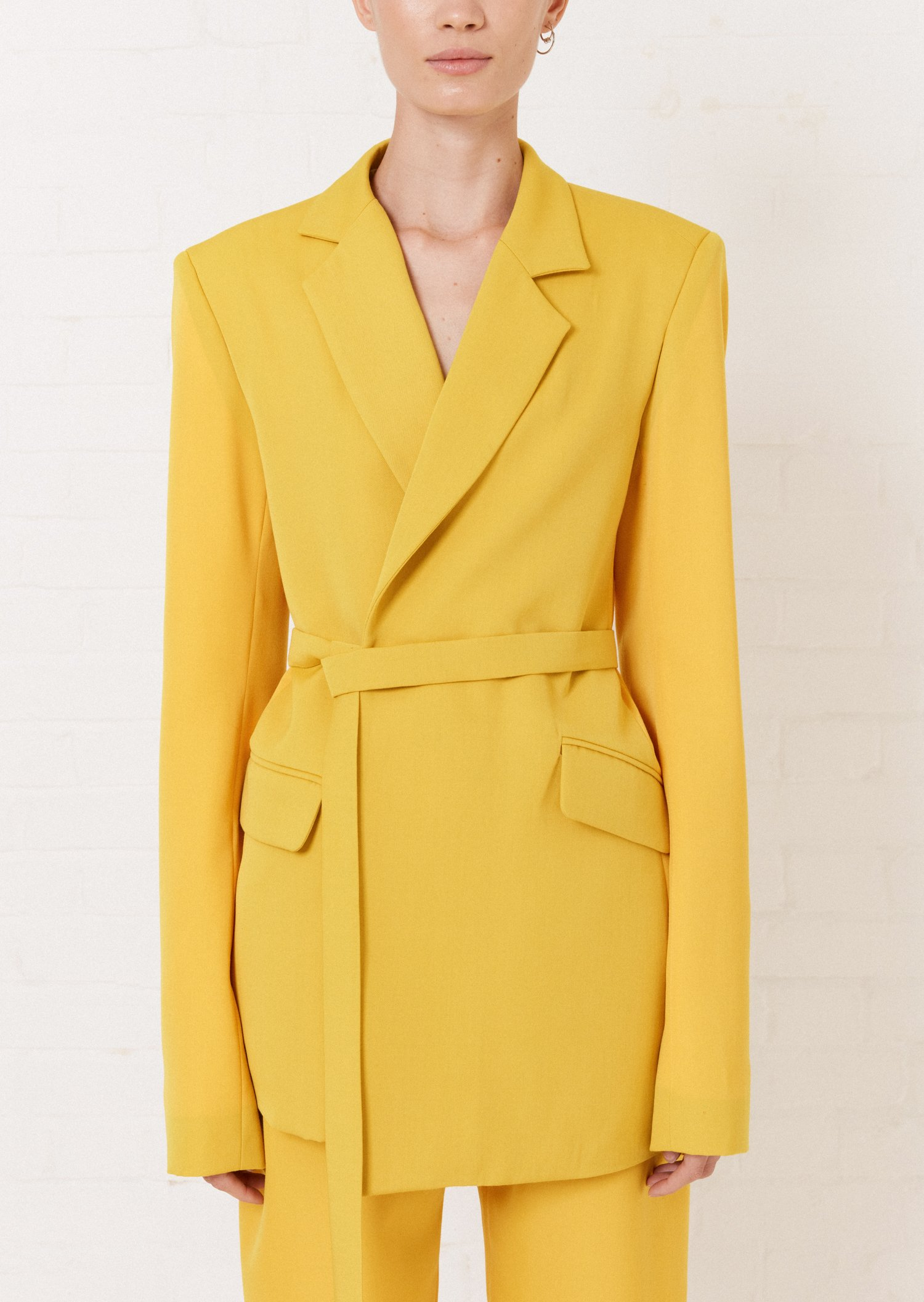 Yellow Tailored Suit Jacket   House of Holland – House of Holland