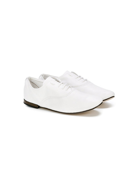 Repetto classic shoes lace-up shoes lace leather white cotton