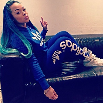pants adidas blue white colors sports clothes adidas tracksuit bottom style fashion