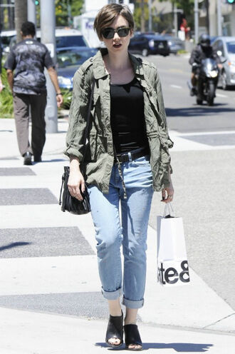 shoes mules sandals lily collins jacket