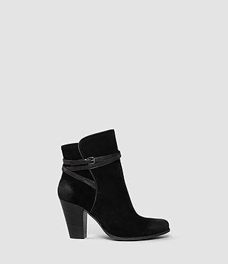 Womens Victoria Heel Boot (Black) | ALLSAINTS.com