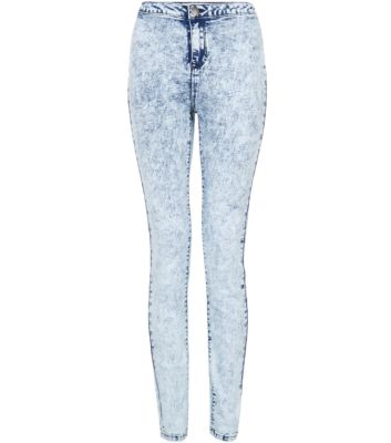 Light Blue Acid Wash Denim Disco Jeans