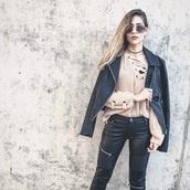 pants,biker,biker jacket,black,black jacket,sweater,fashion,blogger chic,outfit,outfit idea,ootd,leather