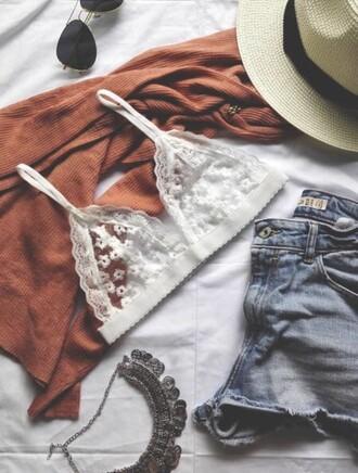 underwear white girly girl girly wishlist lace lace bra lace bralette bra bralette outfit white bralette boho bra top see through