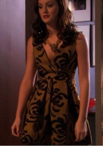 dress mustard blair waldorf leighton meester gossip girl