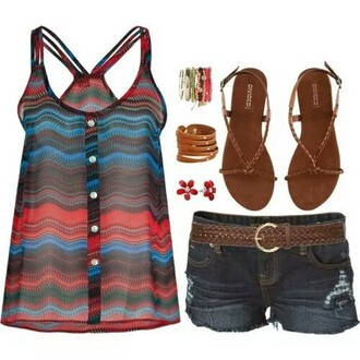 tank top summer top colourful