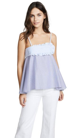 camisole white blue underwear